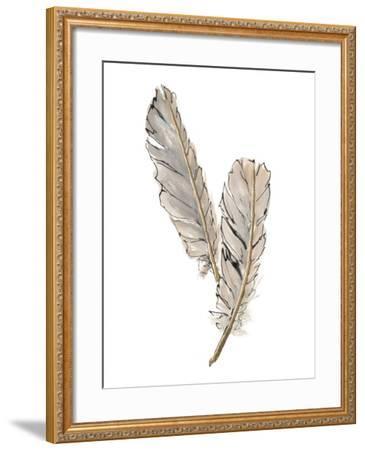 Gold Feathers VIII-Chris Paschke-Framed Art Print