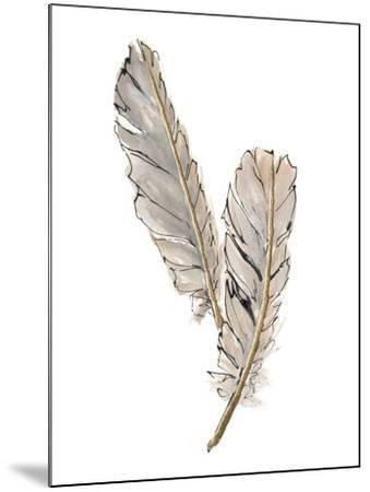 Gold Feathers VIII-Chris Paschke-Mounted Art Print