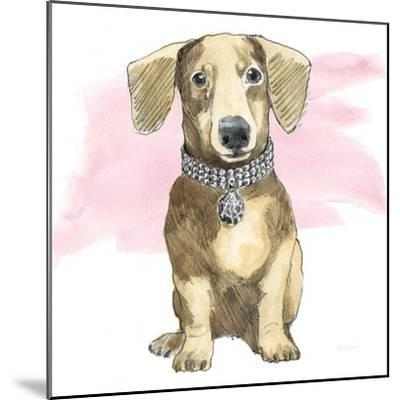 Glamour Pups IX on Pink-Beth Grove-Mounted Art Print