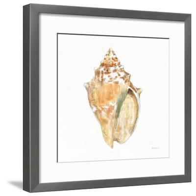 Golden Treasures V on White-Beth Grove-Framed Art Print