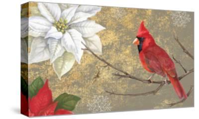 Winter Birds Cardinal 16x16-Beth Grove-Stretched Canvas Print