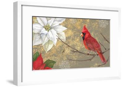 Winter Birds Cardinal 16x16-Beth Grove-Framed Art Print