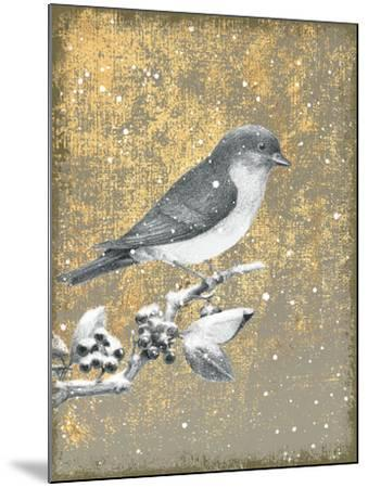 Winter Birds Bluebird Neutral-Beth Grove-Mounted Art Print