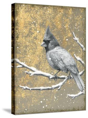 Winter Birds Cardinal Neutral-Beth Grove-Stretched Canvas Print
