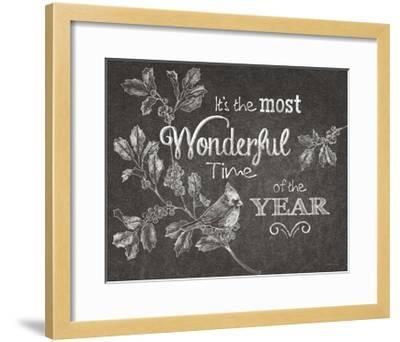 Chalkboard Christmas Sayings VI-Beth Grove-Framed Art Print