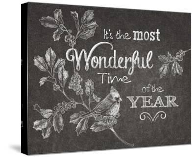 Chalkboard Christmas Sayings VI-Beth Grove-Stretched Canvas Print