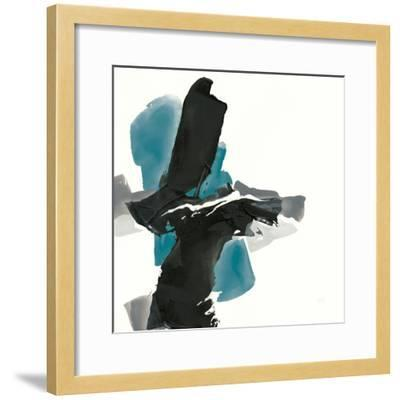 Black and Teal IV-Chris Paschke-Framed Art Print