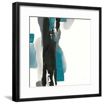 Black and Teal II-Chris Paschke-Framed Art Print