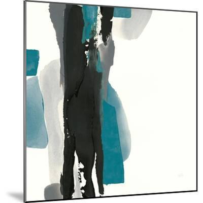 Black and Teal II-Chris Paschke-Mounted Art Print