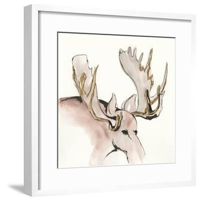 Gilded Moose-Chris Paschke-Framed Art Print