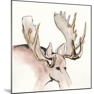 Gilded Moose-Chris Paschke-Mounted Art Print