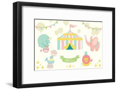 Little Circus Pastel-Cleonique Hilsaca-Framed Art Print