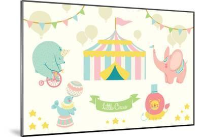 Little Circus Pastel-Cleonique Hilsaca-Mounted Art Print