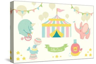 Little Circus Pastel-Cleonique Hilsaca-Stretched Canvas Print