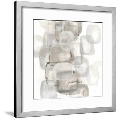Neutral Stacking I White-Chris Paschke-Framed Art Print