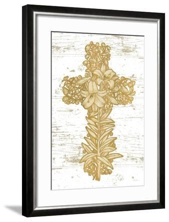 Holiday Cross I-Beth Grove-Framed Art Print
