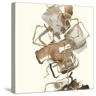 Gold Squares I-Chris Paschke-Stretched Canvas Print