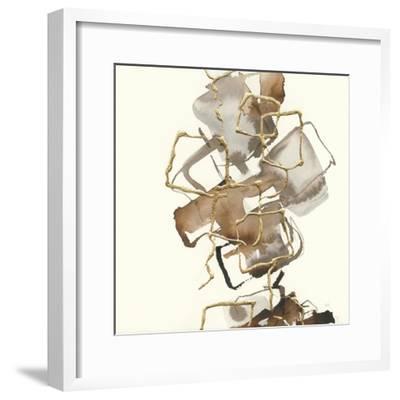Gold Squares I-Chris Paschke-Framed Art Print