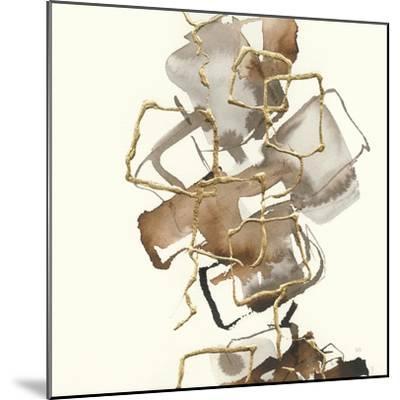 Gold Squares I-Chris Paschke-Mounted Art Print
