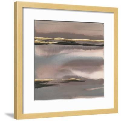 Gilded Morning Fog I-Chris Paschke-Framed Art Print