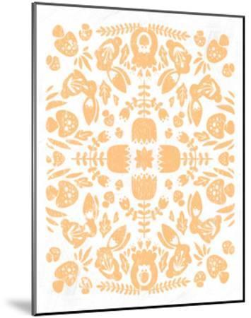 Otomi Rabbits Pastel-Cleonique Hilsaca-Mounted Art Print