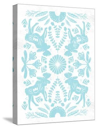 Otomi Moose Pastel-Cleonique Hilsaca-Stretched Canvas Print