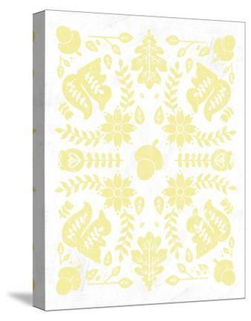 Otomi Squirrels Pastel-Cleonique Hilsaca-Stretched Canvas Print
