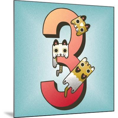 Three Cats-Cleonique Hilsaca-Mounted Art Print