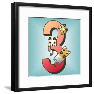 Three Cats-Cleonique Hilsaca-Framed Art Print