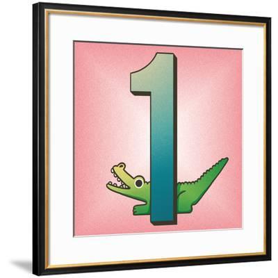 One Alligator-Cleonique Hilsaca-Framed Art Print