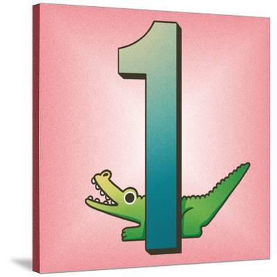 One Alligator-Cleonique Hilsaca-Stretched Canvas Print
