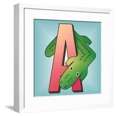 A is for Alligator-Cleonique Hilsaca-Framed Art Print