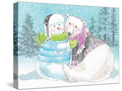 Polar Cap Friends III-Beth Grove-Stretched Canvas Print