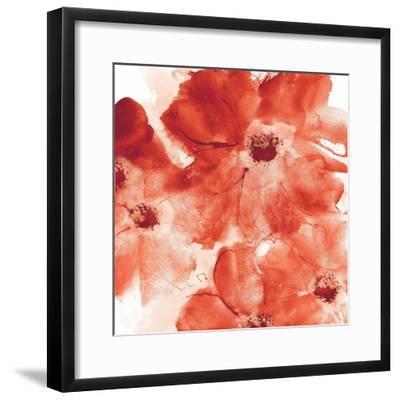 Seashell Cosmos I Red and Orange-Chris Paschke-Framed Art Print