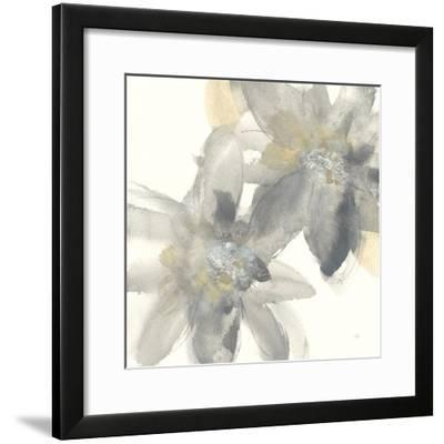 Gray and Silver Flowers II-Chris Paschke-Framed Art Print
