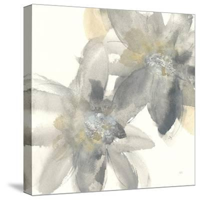 Gray and Silver Flowers II-Chris Paschke-Stretched Canvas Print