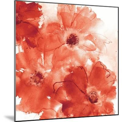 Seashell Cosmos II Red and Orange-Chris Paschke-Mounted Art Print