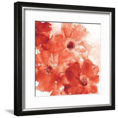 Seashell Cosmos II Red and Orange-Chris Paschke-Framed Art Print