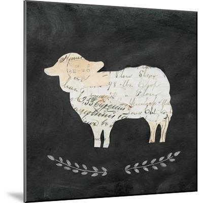 Le Mouton Cameo Sq no Words-Courtney Prahl-Mounted Art Print
