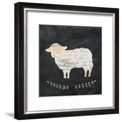 Le Mouton Cameo Sq no Words-Courtney Prahl-Framed Art Print