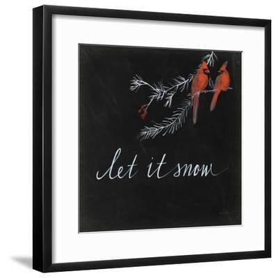 Cardinal Chalkboard II-Danhui Nai-Framed Art Print