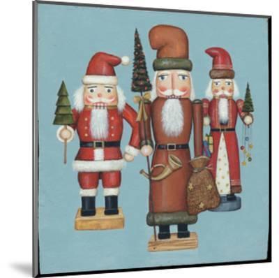 Santa Nutcrackers-David Cater Brown-Mounted Art Print