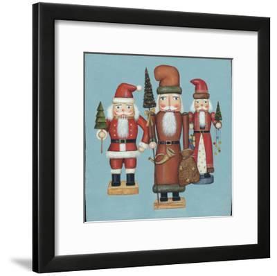 Santa Nutcrackers-David Cater Brown-Framed Art Print
