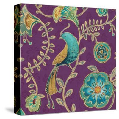 Bohemian Wings VIII Aubergine-Daphne Brissonnet-Stretched Canvas Print