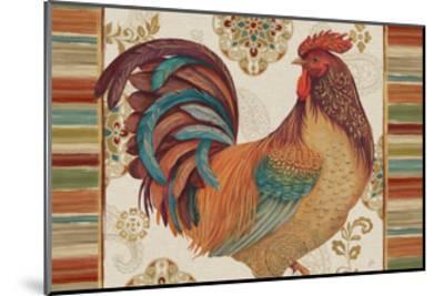 Rooster Rainbow IVA-Daphne Brissonnet-Mounted Art Print