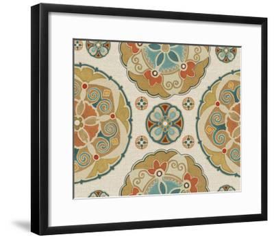 Spice Suzani Patterns I-Daphne Brissonnet-Framed Art Print