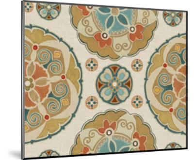 Spice Suzani Patterns I-Daphne Brissonnet-Mounted Art Print