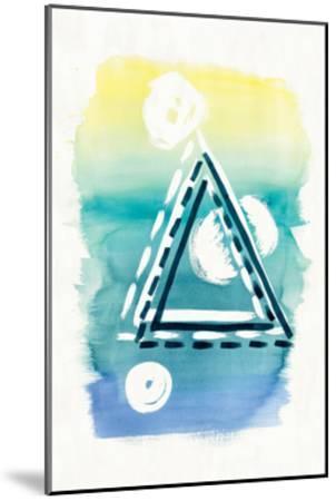 Offset Shapes Triangle-Elyse DeNeige-Mounted Art Print