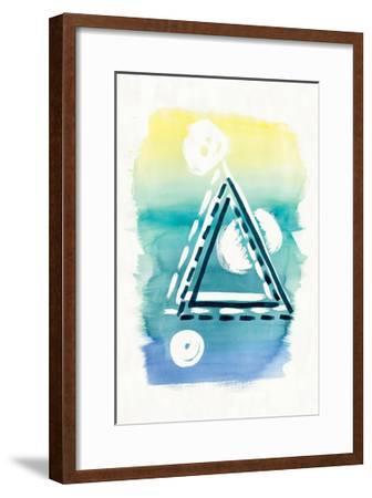 Offset Shapes Triangle-Elyse DeNeige-Framed Art Print