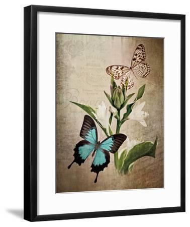 Butterfly Botanical II-Debra Van Swearingen-Framed Art Print